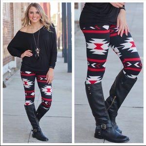 Tribal Inspired Print Leggings